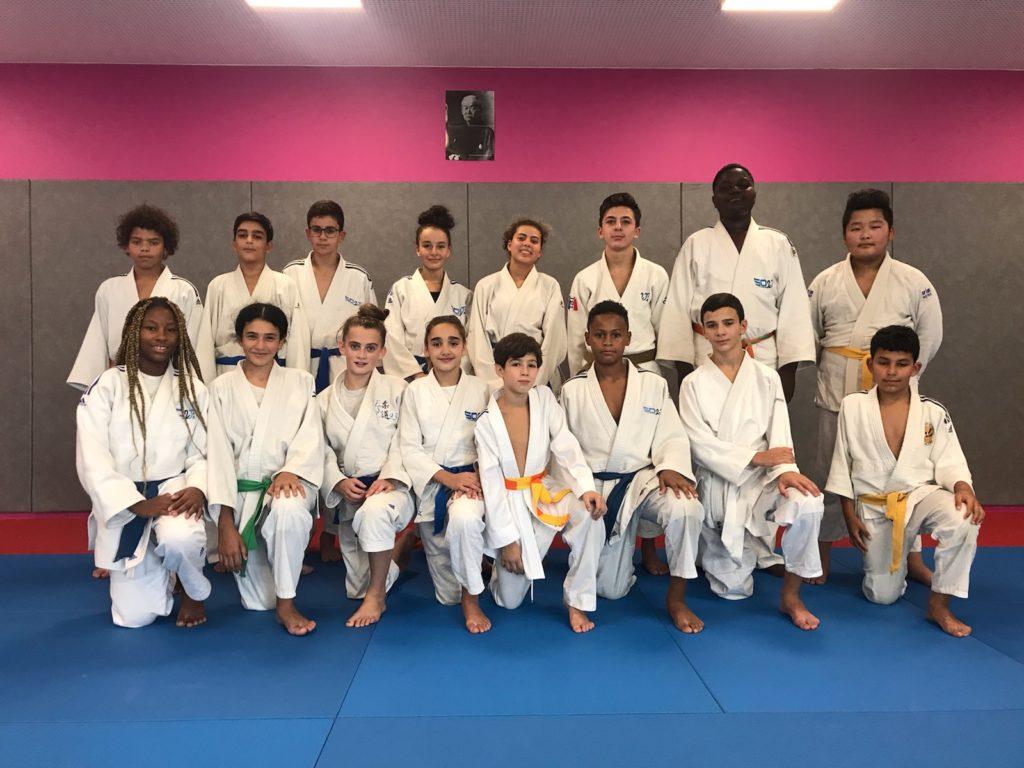 Groupe Minimes Compétiteurs Judo SO2J